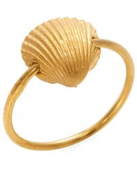 Valentino - Sea Shell Charm Midi Ring - Lyst