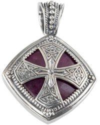 Konstantino Silver Gemstone Pendant Necklace - Metallic