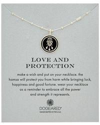 Dogeared - Silver Enamel Hamsa Necklace - Lyst