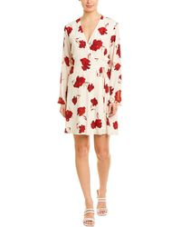 Lush Floral Wrap Dress - Red