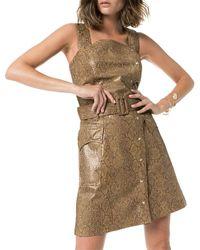 Nanushka Lorena Mini Dress - Brown