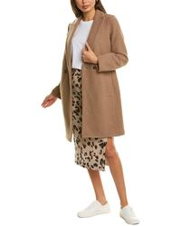 J.Crew Daphne Boiled Wool Topcoat - Natural