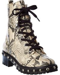 Schutz Andrea Leather Boots - White