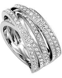 Swarovski Crystal Stainless Steel Ring - Metallic