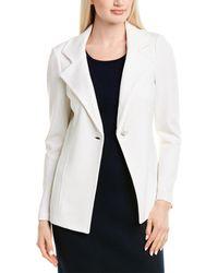 St. John Wool-blend Blazer - White