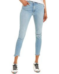 Rag & Bone Nina Aspen High-rise Ankle Skinny Leg Jean - Blue