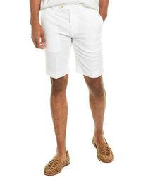 Brooks Brothers Linen-blend Bermuda Short - White