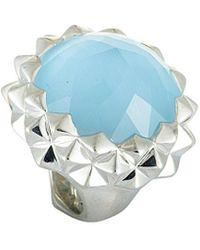 Stephen Webster Silver 43.50 Ct. Tw. Gemstone Ring - Blue