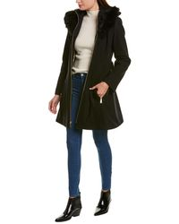 Laundry by Shelli Segal Fit-and-flare Wool-blend Coat - Black