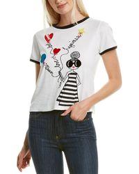 Alice + Olivia Rylyn T-shirt - White