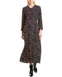 Anna Sui Carnation A-line Dress - Black