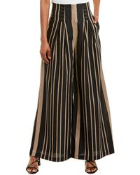 Acler Archer Linen-blend Pant - Brown