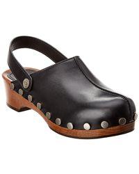 Dior Quake Slingback Leather Clog - Black