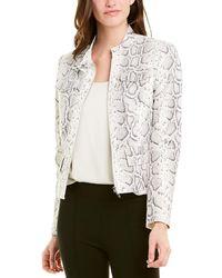 Elie Tahari Leather Jacket - White