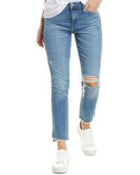 Lovers + Friends Logan High-rise Tapered Leg - Blue