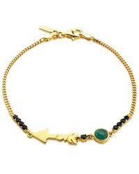 Tous Follow Gold Over Silver Gemstone Bracelet - Metallic