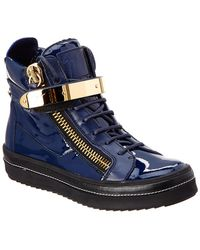 be030529ec82 Giuseppe Zanotti Platform Wedge Suede Ankle Boots in Orange - Lyst
