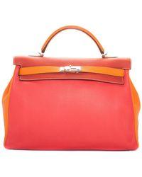 Hermès - Pink & Orange Clemence Leather Kelly 40cm Phw - Lyst