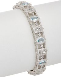 Judith Ripka Sanibel Silver 3.68 Ct. Tw. Gemstone Cuff - Metallic