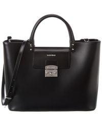 Valentino By Mario Valentino Lea Soave Leather Tote - Black