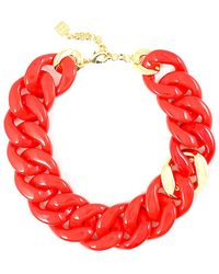 Zenzii - Polished Resin Links Resin Collar Necklace - Lyst