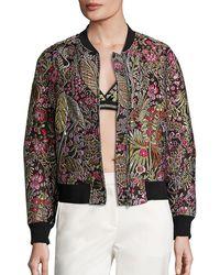 3.1 Phillip Lim - Floral Cloque Bomber Jacket - Lyst