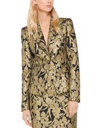 Michael Kors Silk-blend Blazer - Metallic
