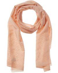 Ferragamo Silk-blend Scarf - Pink