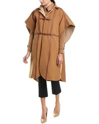 Burberry Harness Wool-blend Cape - Brown