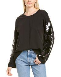 Donna Karan Sequin Top - Black