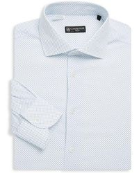 Corneliani - Dot-print Dress Shirt - Lyst