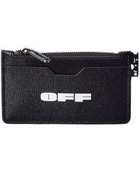 Off-White c/o Virgil Abloh Off-white? Logo Leather Card Holder - Black