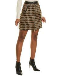 Karl Lagerfeld Tweed Skirt - Brown