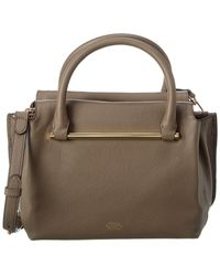 Vince Camuto Axel Leather Satchel - Gray
