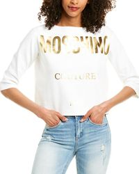 Moschino Cropped Pullover - White