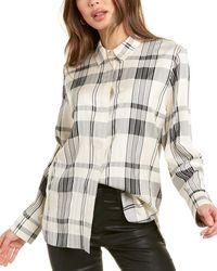 Theory - Classic Menswear Silk-blend Shirt - Lyst