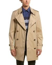 Burberry Short Wimbledon Trench Coat - Natural