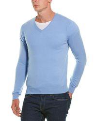 Phenix Cashmere V-neck - Blue