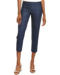 Piazza Sempione Solid Wool-blend Pant - Blue
