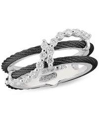 Alor Noir 18k 0.28 Ct. Tw. Diamond Ring - Metallic
