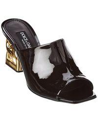 Dolce & Gabbana Dg Patent Sandal - Black