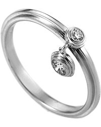 Cartier Cartier 18k 0.12 Ct. Tw. Diamond Ring - Metallic