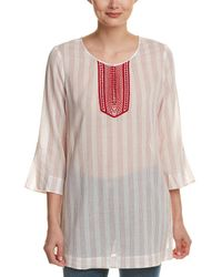 NYDJ - Embroidered Tunic - Lyst