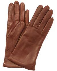 Portolano - Brown Leather Gloves - Lyst