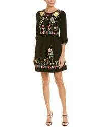 French Connection - Embroidered A-line Dress - Lyst