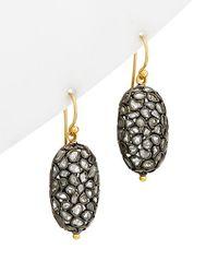 Gurhan Spell 24k, 22k, & Rhodium Plated 20.10 Ct. Tw. Diamond Drop Earrings - Metallic