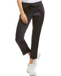 Pam & Gela Tweed Crop Track Pant - Blue