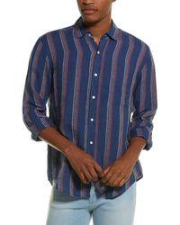 J.McLaughlin Gramercy Linen Woven Shirt - Red