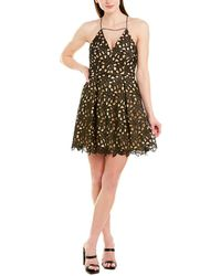 MILLY Lace A-line Dress - Black