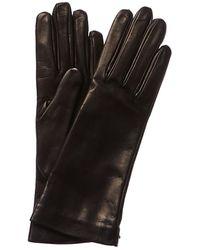 Balenciaga Silk-lined Leather Gloves - Black